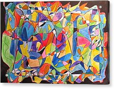 Acrylic Print featuring the painting Beethoven's Symphony Number Five by Esther Newman-Cohen