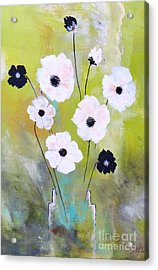 Acrylic Print featuring the painting Beetle Flowers by France Laliberte