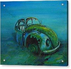 Beetle Forever Acrylic Print by Ottilia Zakany