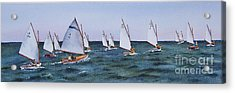 Acrylic Print featuring the painting Beetlecat Race by Karol Wyckoff