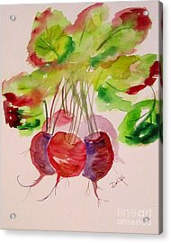 Beets And Green Tops Acrylic Print by Delilah  Smith