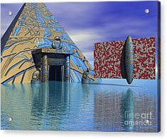 Before And After Us - Surrealism Acrylic Print by Sipo Liimatainen