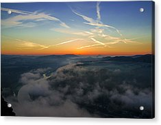 Before Sunrise On The Lilienstein Acrylic Print