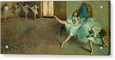 Before The Ballet Acrylic Print by Edgar Degas