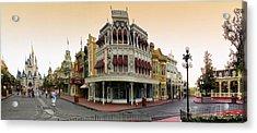 Before The Gates Open Magic Kingdom Main Street. Acrylic Print