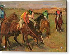 Before The Races Acrylic Print by Edgar Degas