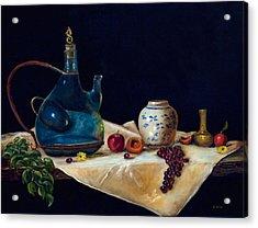 Before The Sangria Acrylic Print by Gina Cordova