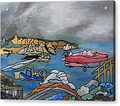 Acrylic Print featuring the painting Before The Storm by Barbara St Jean
