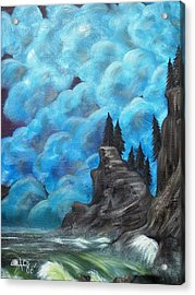 Acrylic Print featuring the painting Before The Storm by The GYPSY And DEBBIE