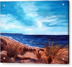 Before The Tumble At Chapin Beach Acrylic Print by Viola Holmgren