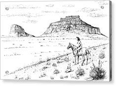 Open Prairie Overlook Acrylic Print