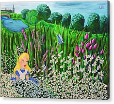 Before Wonderland Acrylic Print by Dennise Heckman