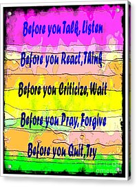 Before You Quit  Acrylic Print