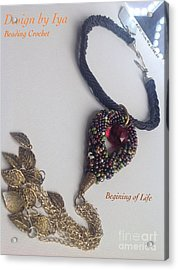 Acrylic Print featuring the jewelry Begining Of Life by Iya Carson