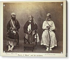 Begum Of Bhopal And Her Ministers Acrylic Print by British Library