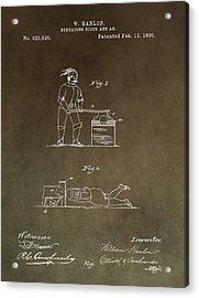 Beheading Block Patent Acrylic Print