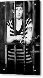 Acrylic Print featuring the photograph Behind Bars by Jim Poulos