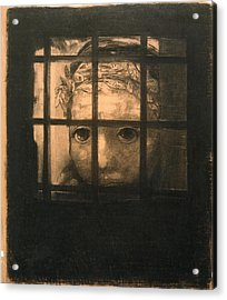 Behind Bars Acrylic Print by Odilon Redon