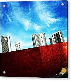Behind Miami's Glamorous Skyline Acrylic Print