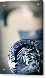 Acrylic Print featuring the photograph Behind The Badge by Trish Mistric