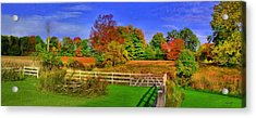 Behind The Barn Acrylic Print by Dennis Lundell