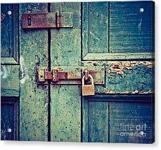 Behind The Blue Door Acrylic Print