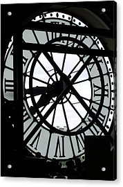 Behind The Clock II Acrylic Print