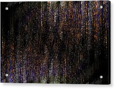 Behind The Curtain Acrylic Print by Christopher Gaston