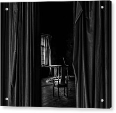 Behind The Curtain Acrylic Print by David Mcchesney