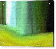 Behind The Curtain Acrylic Print by Lenore Senior