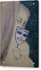 Behind The Curtein Acrylic Print by Roni Ruth Palmer