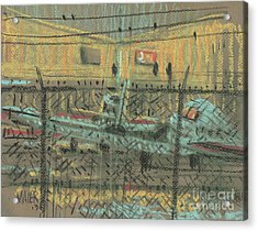 Behind The Fence Acrylic Print by Donald Maier