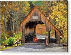 Behind The Gate Acrylic Print by Deborah Benoit