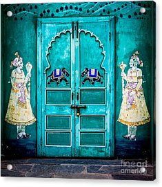 Behind The Green Door Acrylic Print by Catherine Arnas