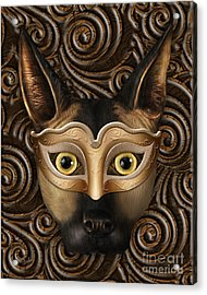 Behind The Mask Acrylic Print by Bedros Awak