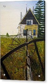 Acrylic Print featuring the painting Behind The Old Church by Marilyn  McNish
