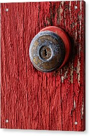 Behind The Red Door Acrylic Print by Tom Druin