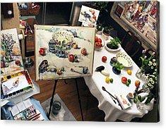 Behind The Scene Acrylic Print by Becky Kim