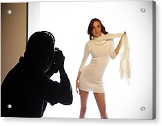 Behind The Scenes Acrylic Print by Andrew Bailey