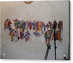 Behind The Scenes Mural 7 Acrylic Print by Becky Kim