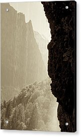 Behind The Waterfall Acrylic Print