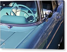Behind The Wheel Acrylic Print by Luke Moore