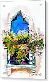 Acrylic Print featuring the painting Bei Fiori by Greg Collins