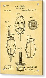 Beidler Jack-a-lantern Patent Art 1889 Acrylic Print by Ian Monk
