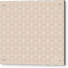 Beige Color Seamless Texture Of Cubes Acrylic Print