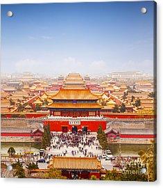 Beijing Forbidden City Skyline Acrylic Print by Colin and Linda McKie