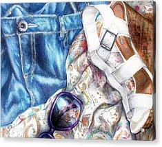 Being A Girl Acrylic Print by Shana Rowe Jackson