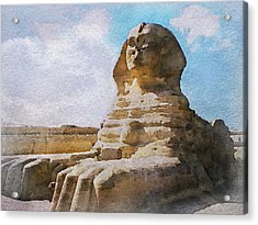 Being Ignored By The Sphinx Acrylic Print by Philip White
