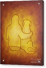 Being There 2 - Dog And Friend Acrylic Print