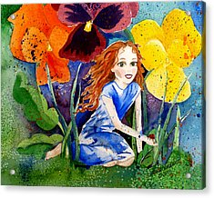Tiny Flower Fairy Acrylic Print